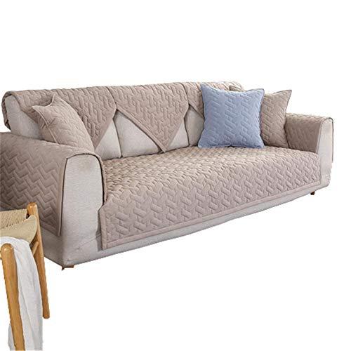 Moderne rutschfeste Sofabezüge Universal Cotton Slipcover Sofaschoner ecksofa Küchen-/Lounge-Sofa-Schutzhülle 1/2/3/4 Sitzer Couchabdeckung,Khaki,90X180cm