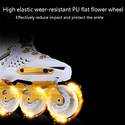 mfw@wewe Adult Inline Skates, Beginners Men's And Women's Professional Quad Skates, Student Youth Durable Breathable Roller Skates (Color : #1, Size : EU 37/US 5/UK 4/JP 23.5CM)