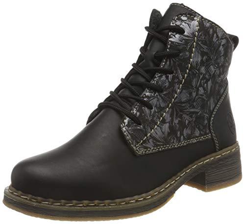 Rieker Damen 73030 Mode-Stiefel, schwarz, 39 EU