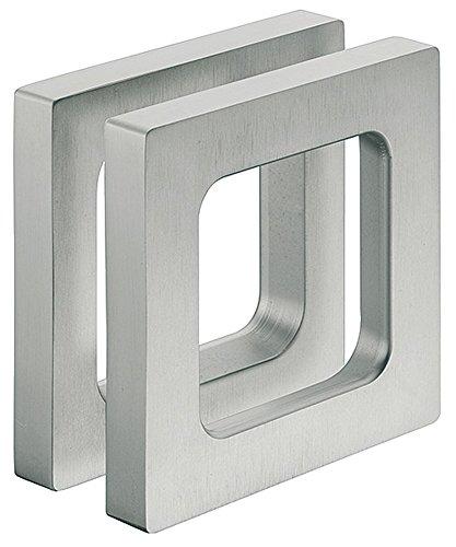 Gedotec Design - Tirador para puerta de cristal (75 x 75 x 10 mm), color plateado
