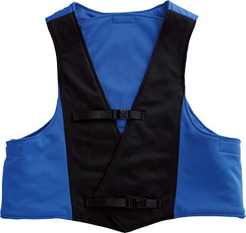 【熱中対策・暑さ対策】着用して身体を冷ますサマーベストL・BIG (ブルー・ブラック, 3_l)
