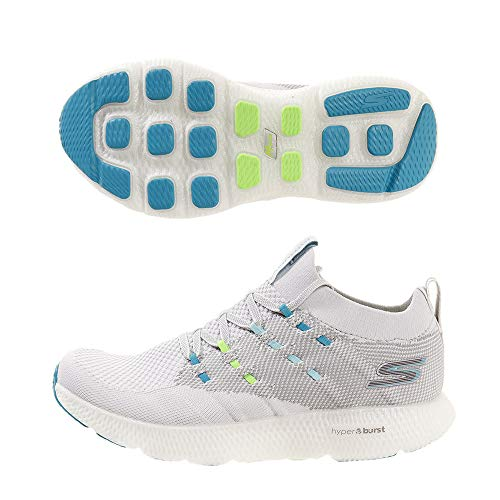 Skechers Womens GOrun 7 Grey Blue Running Shoe - 8