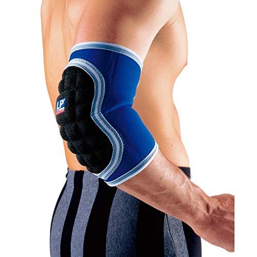 LP Support 761 Ellbogenschutz - Ellbogenschoner - Ellenbogen-Bandage für Volley- & Hand-Ball, Größe:XL, Farbe:blau