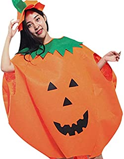 Elenxs Adult Kids Children Pumpkin Halloween Costume Children's Day Stage Clothes