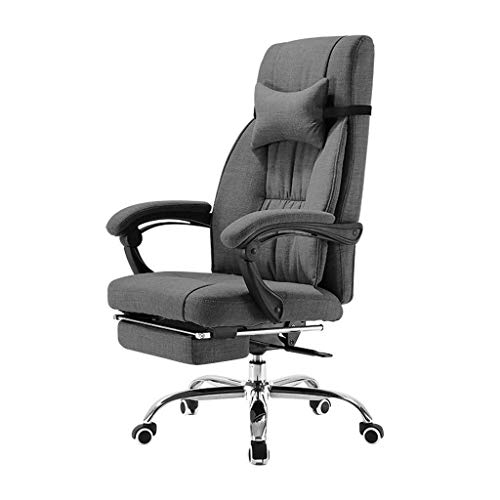 Video Game Chair,Rotating Ergonomic Computer Chair,Home Office Chair Reclining Ergonomic Swivel Chair Boss Lift Chair Study Chair Sit-Back Combination Bearing 300Kg,Gray,70 70 114cm with Ba