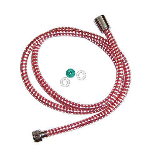 DUSCHSCHLAUCH 1,5m PVC Brauseschlauch Duschschläuche Dusche Bad Schlauch 73 (Rot)