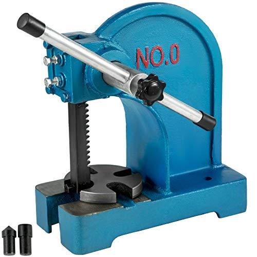 VEVOR Drehdornpresse 0,5T Presskraft Kniehebelpresse Handhebelpresse Gusseisen manuell Dornpresse Werkstattpresse