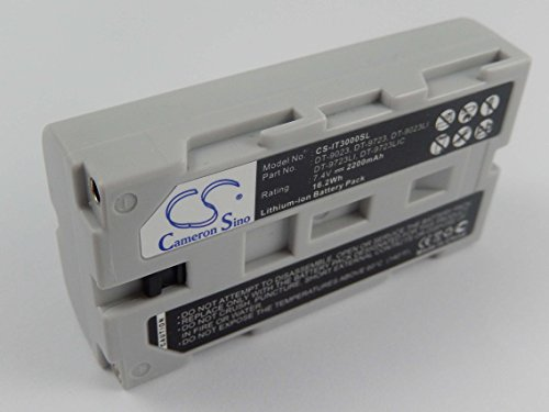 vhbw Li-Ion Akku 2200mAh (7.4V) für Barcode Scanner, Daten Terminal Casio IT2000D30E, IT2000D33E, IT3000, IT3100 wie DT-9023.