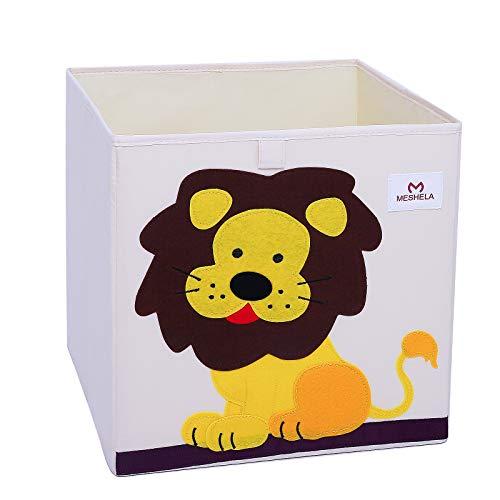Meshela Aufbewahrungsbox für Kinderzimmer faltbarer waschbarer Cartoon Spielzeugkiste geeignet für Spielzeug, Kleidung, Kinderbücher Aufbewahrungskiste (Löwe)