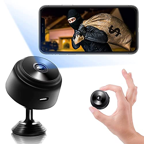2021 New Version Mini WiFi Hidden Cameras,Spy Cameras with Audio and Video Live Feed WiFi,1080P Nanny Cams Wireless with Cell Phone App,with Motion Detection IR Night Vision