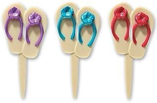 DecoPac Summer Flip Flops DecoPic Cupcake Picks (24-Pack)