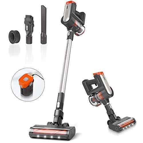 Womow Cordless Vacuum Cleaner, 25Kpa 400W Digital...