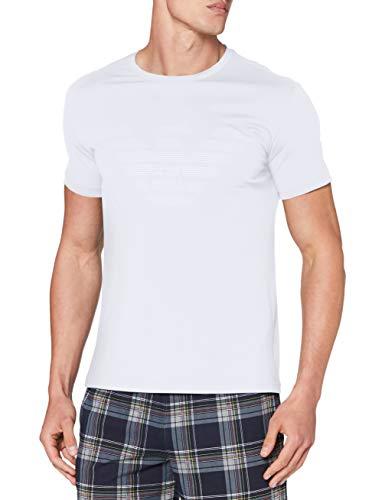 Emporio Armani Underwear Herren Loungewear T-Shirt, Bianco-White, M