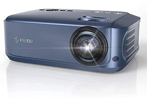 FUJSU Proiettore Full HD Native 1080p LED proiettore Home Cinema 6800 lux Supporta TV Stick, Dual HDMI, Xbox, laptop, Smartphone Proiettore