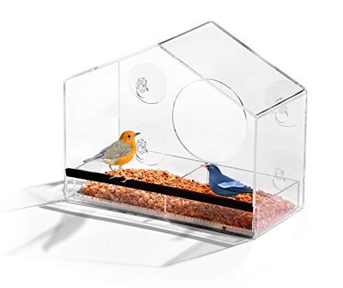 AshmanOnline Home Shaped Window Bird Feeder