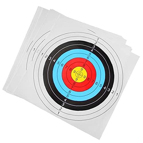 Tuimiyisou Tiro con Tiro con Papel Tiro De Papel Entrenamiento Y Arrow Target Paper Practice Formación para Práctica De Entrenamiento 30pcs