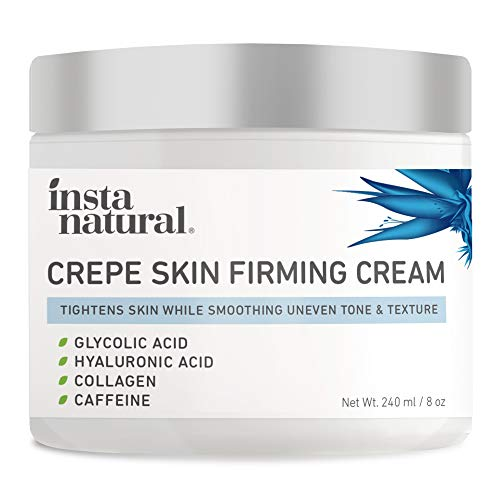 Crepe Firming Cream for Neck, Chest, Legs & Arms – Tightening & Lifting, Anti-Aging, Anti-Wrinkle, Collagen Skin Repair Treatment - Made With Hyaluronic Acid, Alpha Hydroxy & Caffeine – 8 oz