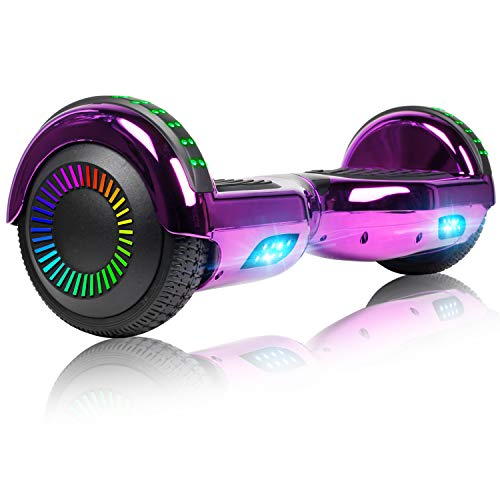 Felimoda Hoverboard, 6.5 Inch self Balancing Scooter with LED Light Flashing...
