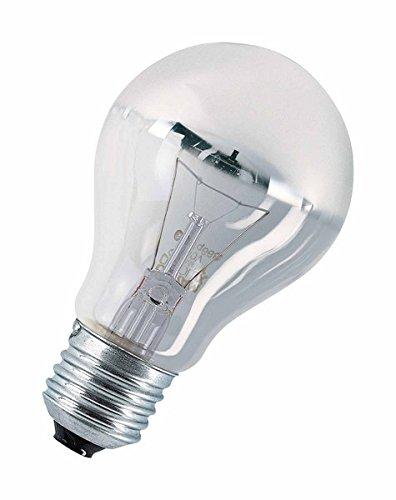 Osram Glühlampe, Spezial Kopfspiegellampe in silber, E27-Sockel, 40 Watt