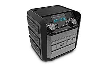 ION Audio Tailgater Express   Compact Water-Resistant Wireless Speaker System with AM/FM Radio & USB Charge Port  20W