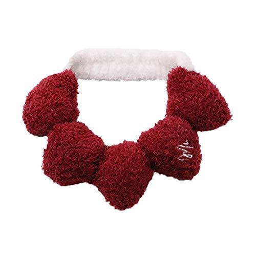 Zhouba Bandeau doux pour femme avec pompon en forme de cœur
