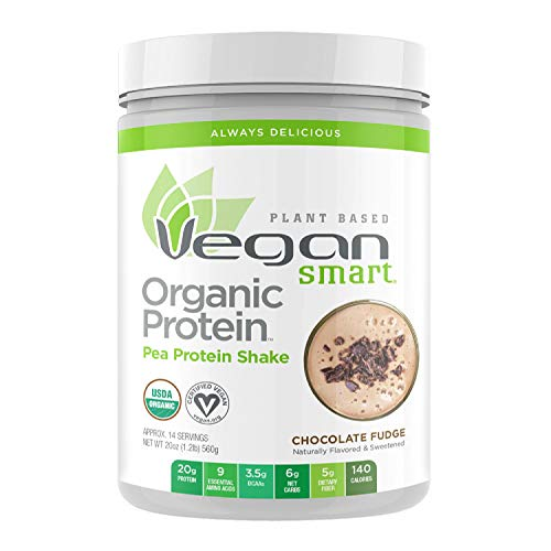 Vegansmart Plant Based Organic Pea Protein Powder by Naturade - French Vanilla (14 Servings)