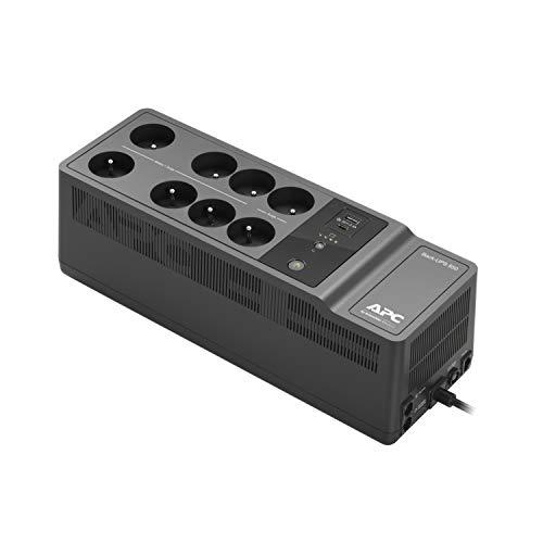 APC Back-ups Essential BE850G2-FR – ups – ups – Inverter con Batteria di riserva da 850 VA (8 Prese, sovratensione, 2 Porte USB veloci Type-A e Type-C)