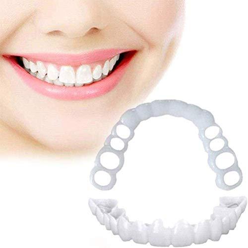 Nossson Zahnprothesen/künstliche Zahn-Abdeckung, zum Aufstecken, sofortiges Lächeln, Kosmetik, Zahnersatz, Schönheits-Werkzeug, 3 Stück, 10 Stück
