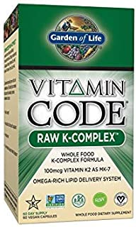 Garden of Life Vitamin Code RAW K-Complex 60 Vcaps, RAW Organic Fruit & Veggie Mineral Blend