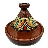 Ameublement Etnico Tajine 0705211300 Casserole Terre cuite Plat Marocain 35 cm