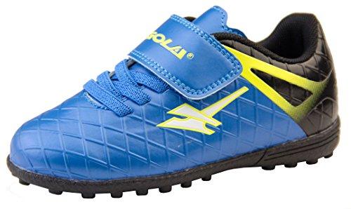 Gola - Activo 5 - Botas de fútbol infantiles, para césped aritficial, zapatillas para deporte, color Azul, talla 25 EU