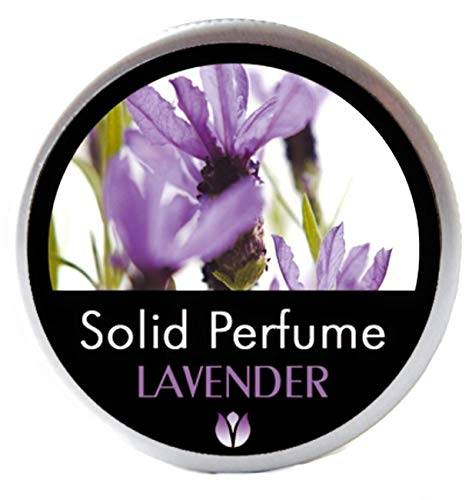 FLOWERLAND Solid Perfume - Portable Pocket Balm Perfume Perfect for Travel Use - Natural Fragrance Parfum for Men and Women - Natural & Vegan - Lavander (30ml)