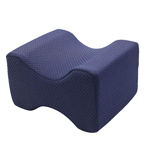 Memory Foam Leg Pillow Orthopaedic Reduce Pain Back Hips Knee Cushion Support Reduce Sciatica Pain Relief Therapy Back Hip and Joint Pregnancy Cushion Support With Washable Cover,Blue2