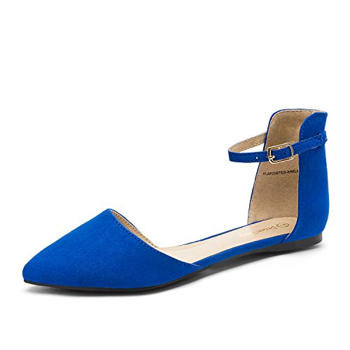 DREAM PAIRS Flapointed-Ankle Blu Reale Donna Ballerinas Scarpe Basse 42 EU/11 US