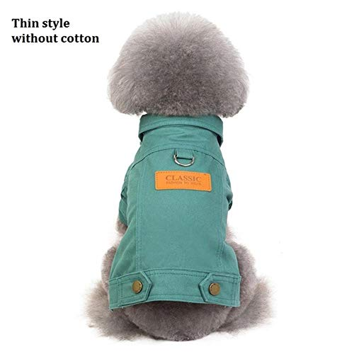 Xinger Winter Dog Jacket Puppy Dog Clothes Pet Outfits Dog Denim Coat Jeans Costume Chihuahua Poodle Bichon Pet Clothing, Light Grey, Maat 1