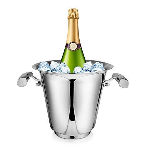 ZXL IJsemmer, champagne emmer ijskoeler roestvrij stalen koeler, grote decoratieve wijnfles helder party bad pool drankbar goederen voor biersap drank, 4 l