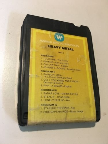 HEAVY METAL Tape 2 8 Track Tape SP8T 2001 Doors Van Morrison Grateful Dead Yes