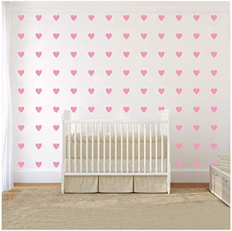 2inchx100 Pieces DIY Heart Wall Decal Vinyl Sticker for Baby Kids Children Boy Girl Bedroom product image