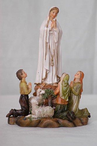 Decocentrum Imágenes Statue Sacre Virgen de Fátima H 20 cm de Resina