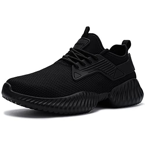 DYKHMATE Zapatillas de Deportes Mujer Ligero Transpirable Running Zapatos para Correr Gimnasio Casual Sneakers (Negro Puro,38.5 EU)