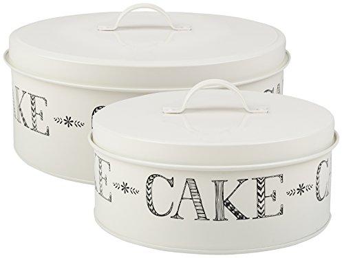 Creative Tops Stir It Up Boîtes à gâteaux, crème, Lot de 2