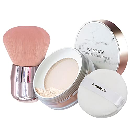 Nogan - Poudre Libre Fixante - Fini Mat Et Naturel - Contrôle De La Brillance - Fixe Le Maquillage sans Dessécher La Peau Lovable