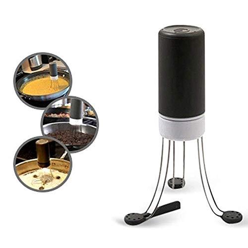 Mini miscelatore automatico manuale, agitatore a batteria, pratico frullino per le uova, utensili da cucina elettrici, bianco e nero, 19 x 4 cm (altezza x larghezza)