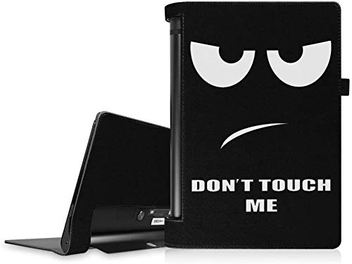 "Fintie Hülle für Lenovo Yoga Tablet 3 10 (Nicht Lenovo Yoga Tab 3 Plus/Pro geeignet) - Folio Premium Kunstleder Schutzhülle mit Auto Sleep/Wake für Lenovo Yoga Tablet 3 10,1\"" YT3-X50F, Don\'t Touch"