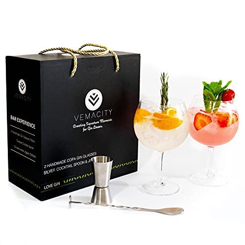 Gin-Gläser für Gin-Liebhaber – personalisierbare Gin-Gläser – perfektes Geschenk (Gin-Liebhaber)