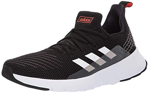 adidas Men's ASWEEGO Running Shoe, Black/White/Solar red,...