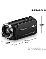 Panasonic HC-V270 Super Zoom Full HD Camcorder, Black