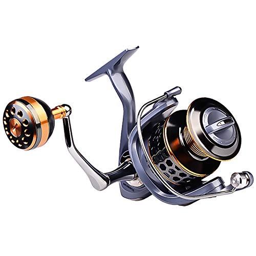 GYAM Carrete Pesca, Carrete Giratorio Pesca Metal Rueda Pesca De Alta Velocidad 5.1: 1 5.2: 1,11-21KG Fuerza Descarga,7000