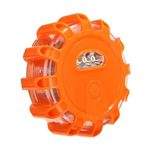 Yunobi LED-Straßen-Flares, Sicherheitsblinklicht, Warnlicht, Notfallleuchte, Straßenrand, Sicherheitslicht, Magnetfuß für Auto, LKW, Motorrad, Fahrrad