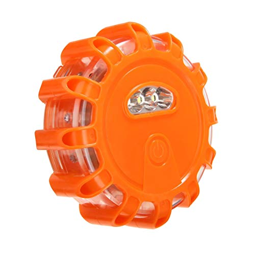 Haplws LED-Pannenleuchte, LED Signallicht orange Road Flares Notsicherheitsfackel Straßenrand-Sicherheitslicht für Pannenhilfe am Straßenrand